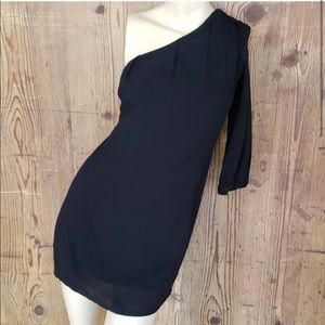 a is for audrey One Shoulder Basic Tunic LBD Dress